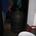 Posoda, v kateri so fermentirale hruške.
