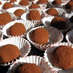 Želodovo-kostanjeve truffles kroglice.